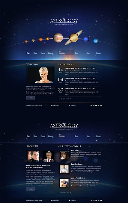 Astrology web template