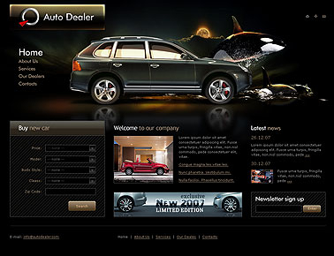 Auto dealer web template