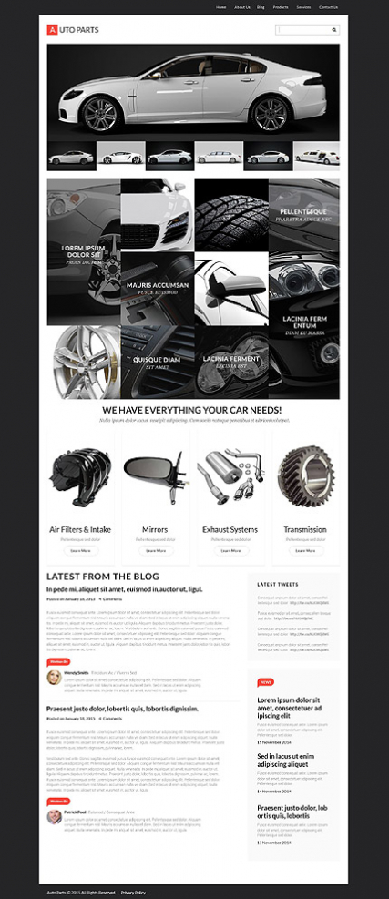 Auto Parts Responsive WordPress Theme