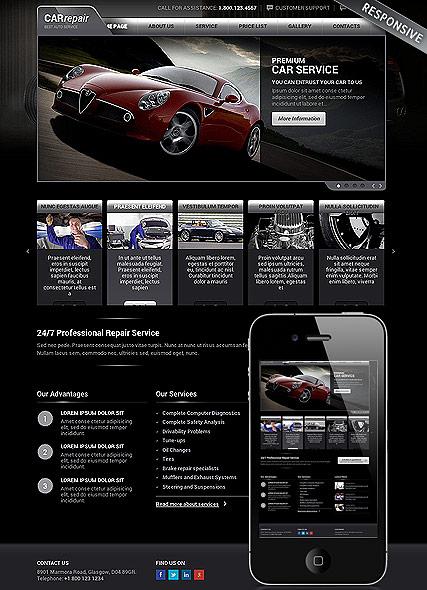 car website template