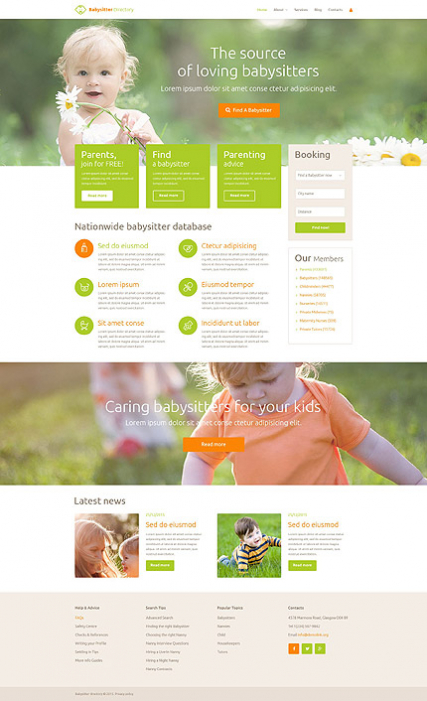 Babysitter Directory WordPress Theme