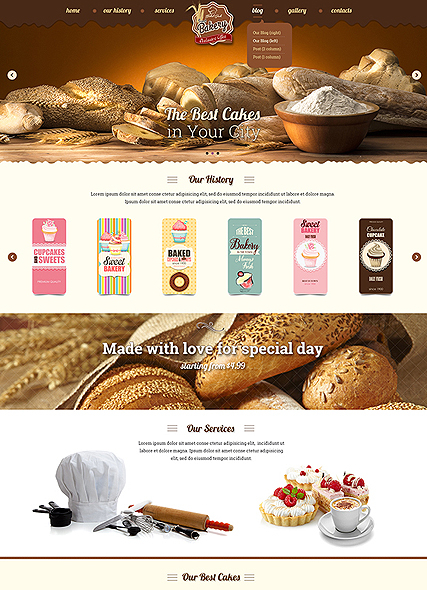 Bakery web template