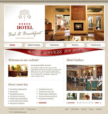 Bed and breakfast web template