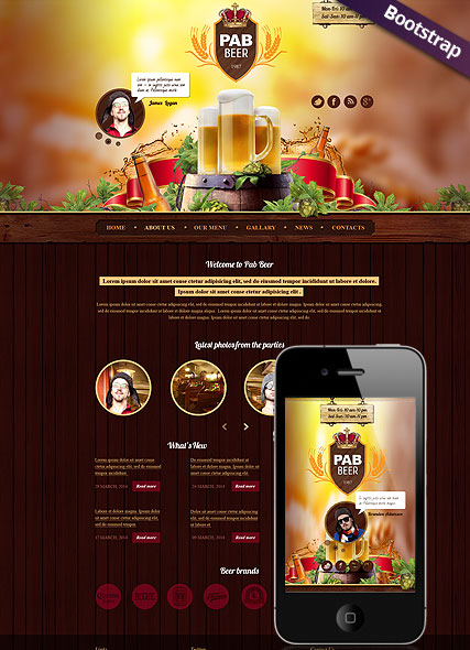 Beer Pub web template