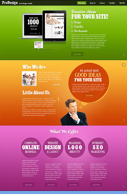 Best Design web template