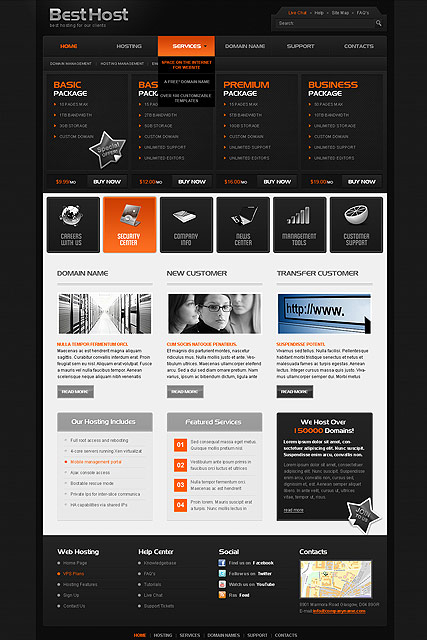 Best Hosting web template