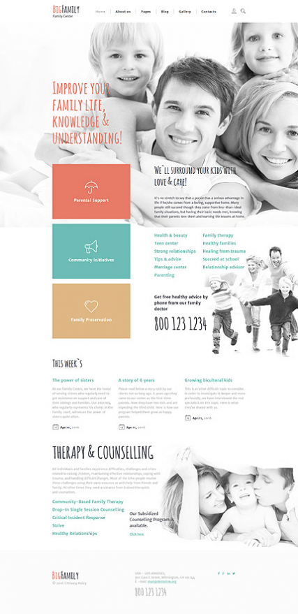 Big Family Joomla Template