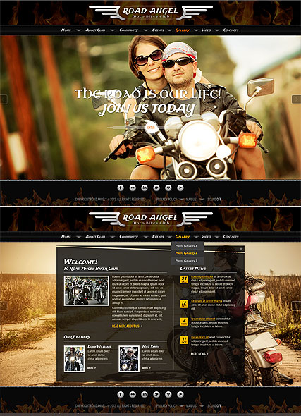 Biker Club web template