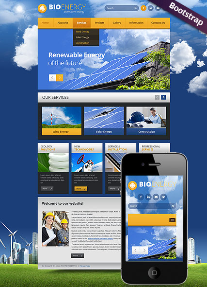 Bio Energy web template