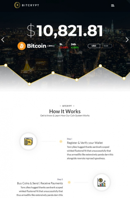 """Bitcoin and Cryptocurrency"" WordPress theme"