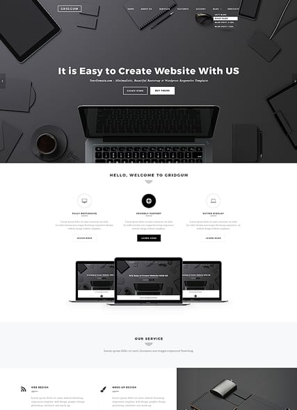 Black Label web template