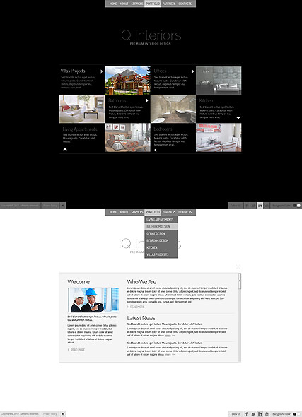 Black White Interior web template
