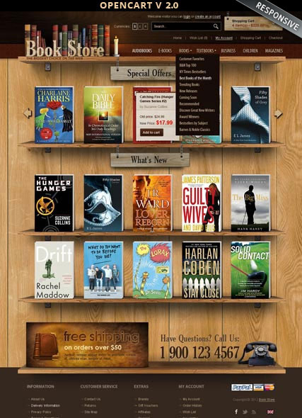 Book Store 2.0 web template