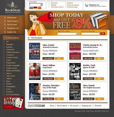 Book store web template