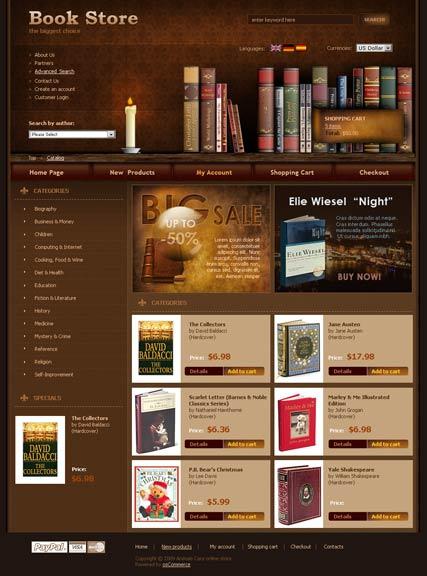 Book Store web template