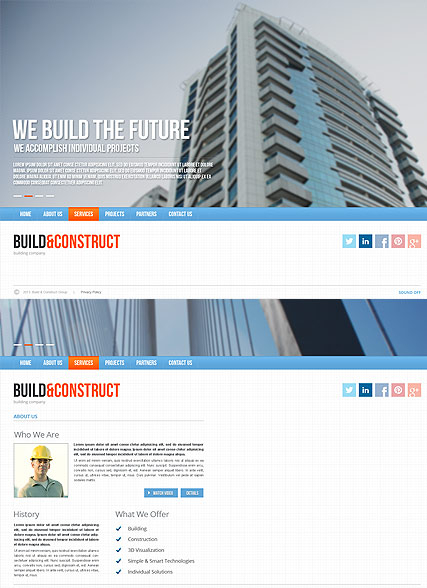 Build and construct web template