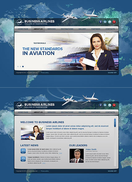 Business Airlines web template