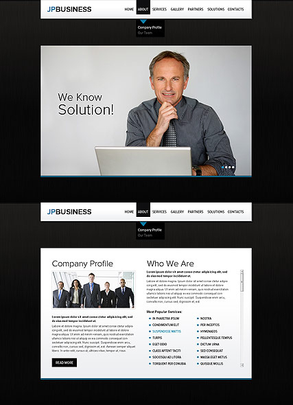 Business Company web template