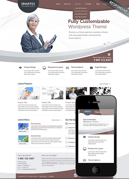 Business Corp web template