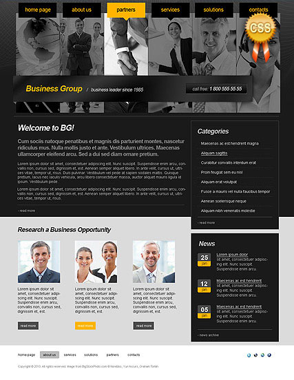 Business Group web template