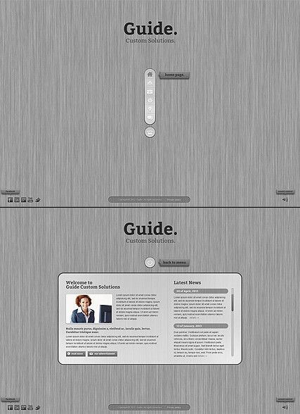 Business Guide web template