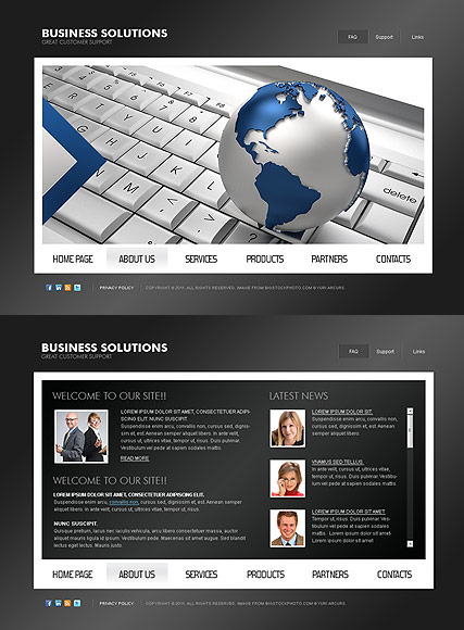 Business Solutions web template