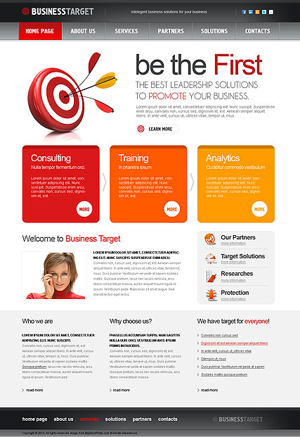 Business Target web template