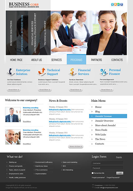 Business v2.5 web template