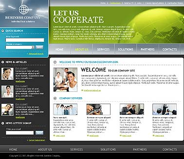 Business web template