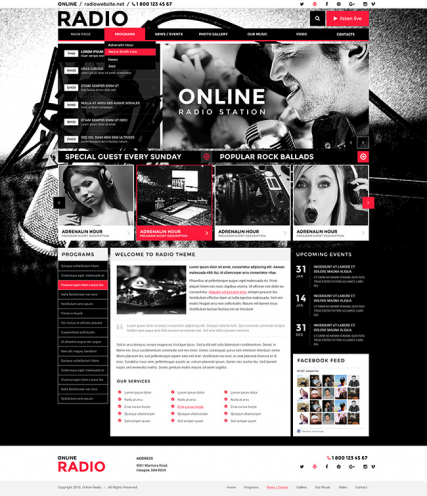 BW Radio web template