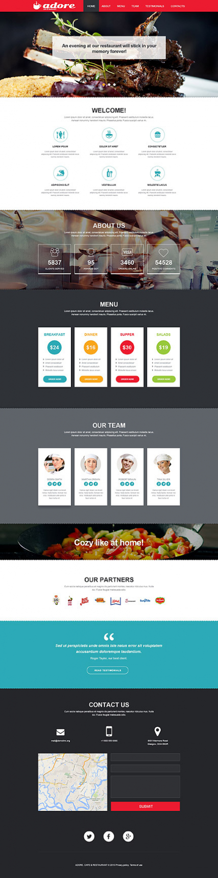 Cafe and Restaurant Muse Template