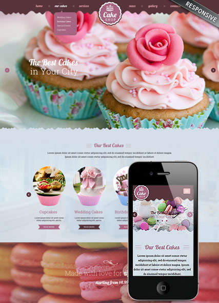 Cake shop web template