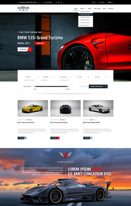 Car Marketplace web template