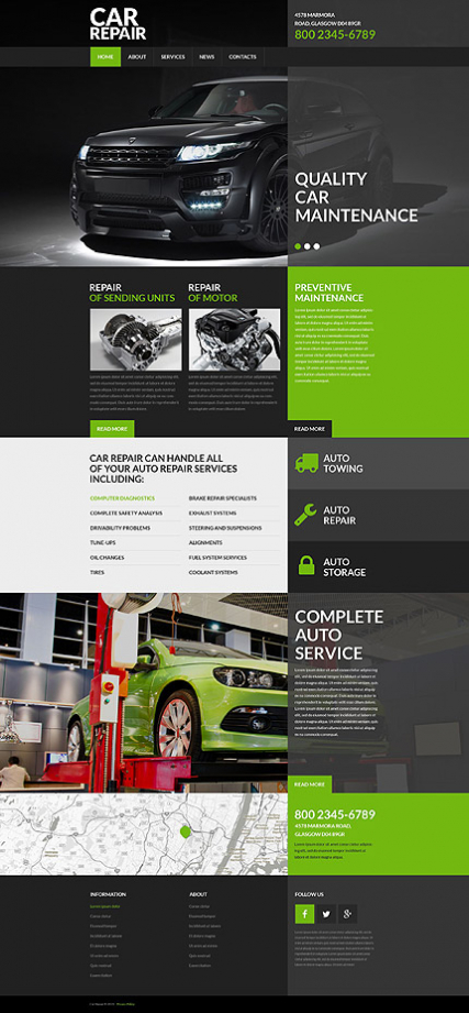 Car Repair Service Website Template