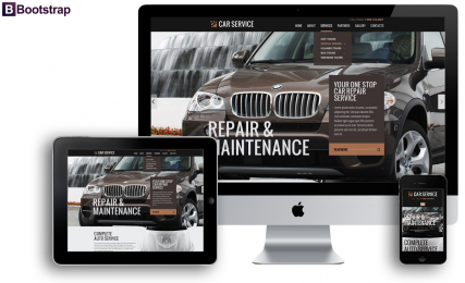 Car service web template