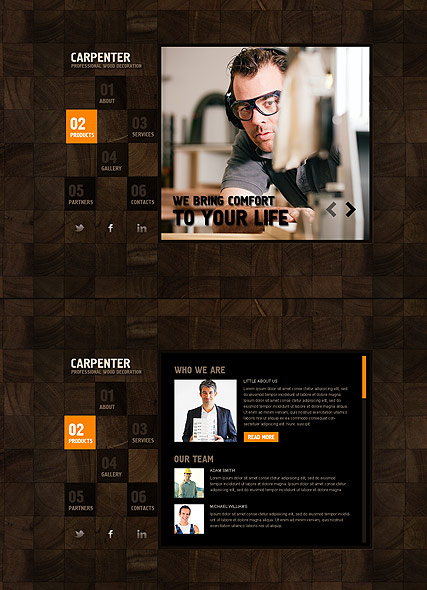 Carpenter web template