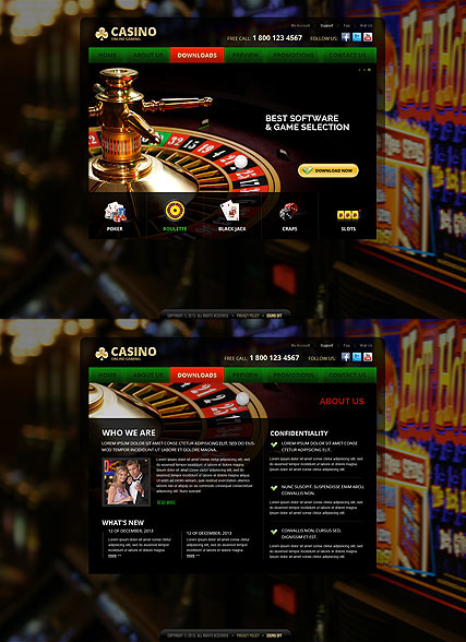 Casino web template