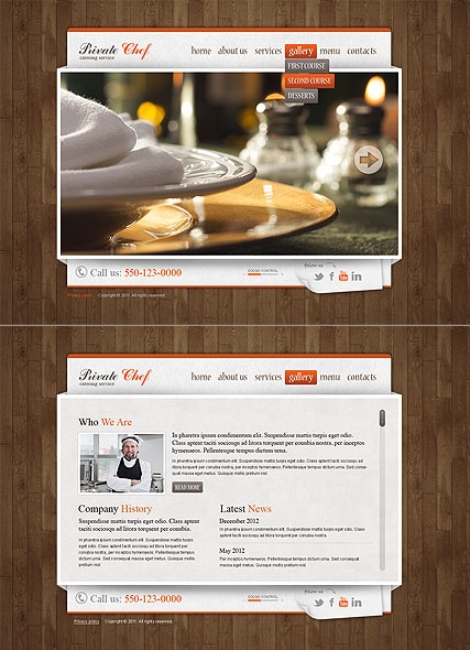 Catering Service web template