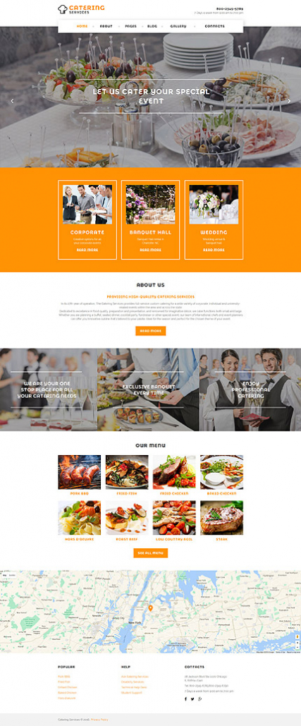 Catering Services Joomla Template