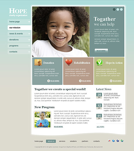 Charity Hope web template