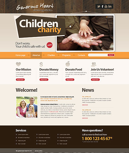 Charity v2.5 web template