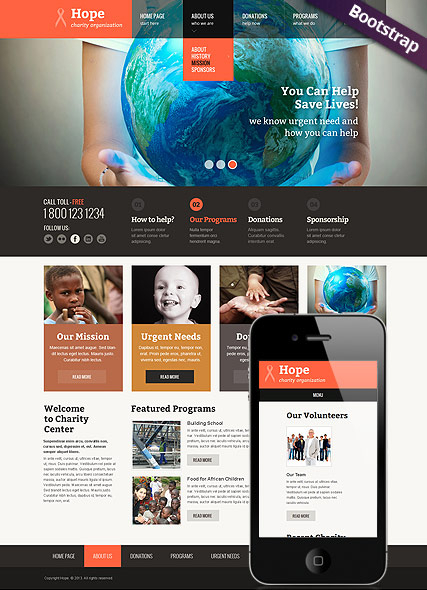 Children Charity web template