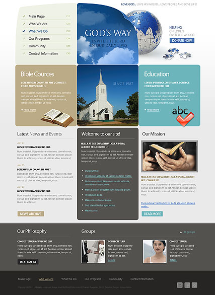 Church web template