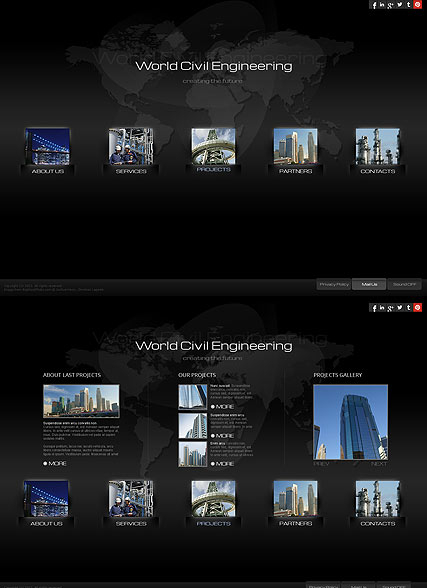 Civil Engineering web template