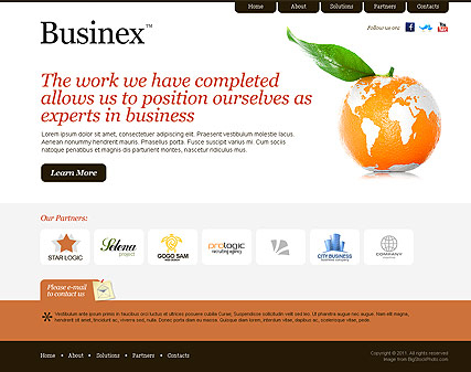 Clean Business web template