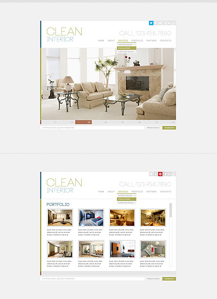 Clean Interior web template