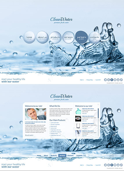 Clean Water web template