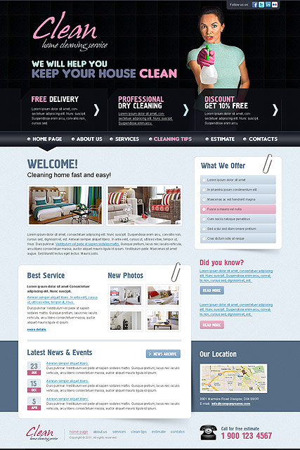 Cleaning web template