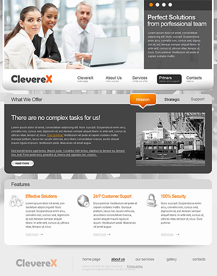 Clever Business web template