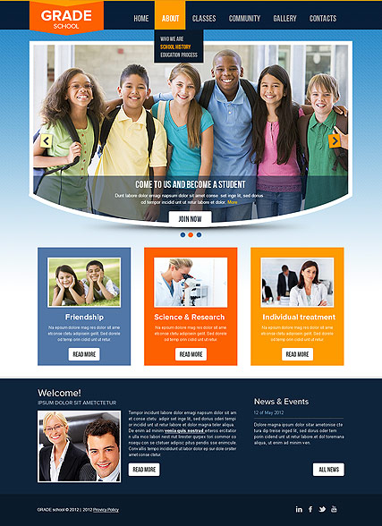 College web template